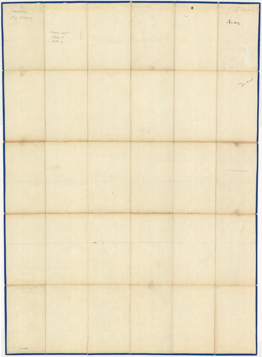 Postkarta över Sverige, södra delen, utgiven 1 mars 1889Kartan av papper på väv. Skala 1:800 000.