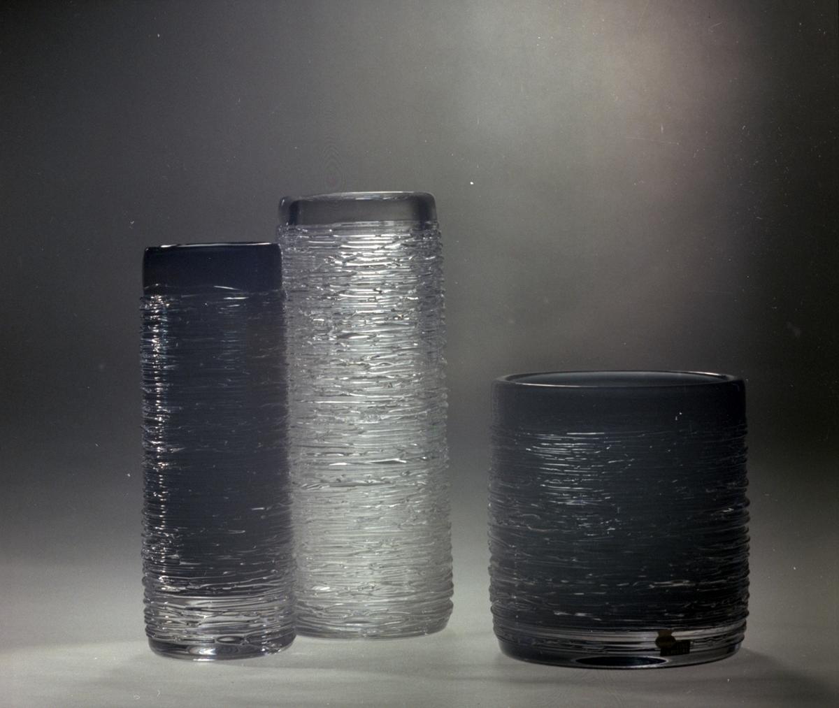 Vaser ifrån Skrufs Glasbruk AB.