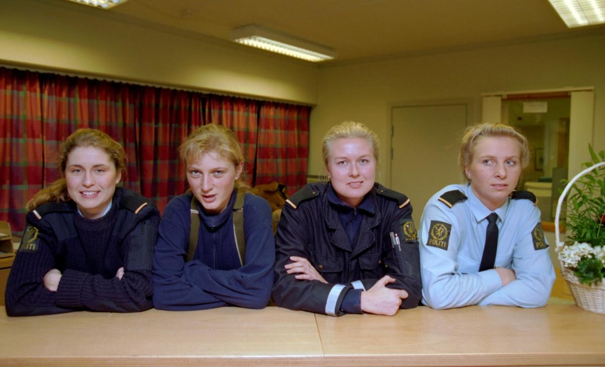 Gruppeportrett av politikvinner i Follo. Fra venstre: Ann-Christin Fossen, Sidsel Mellerud, Marianne Onshus og Marianne Tesaker.