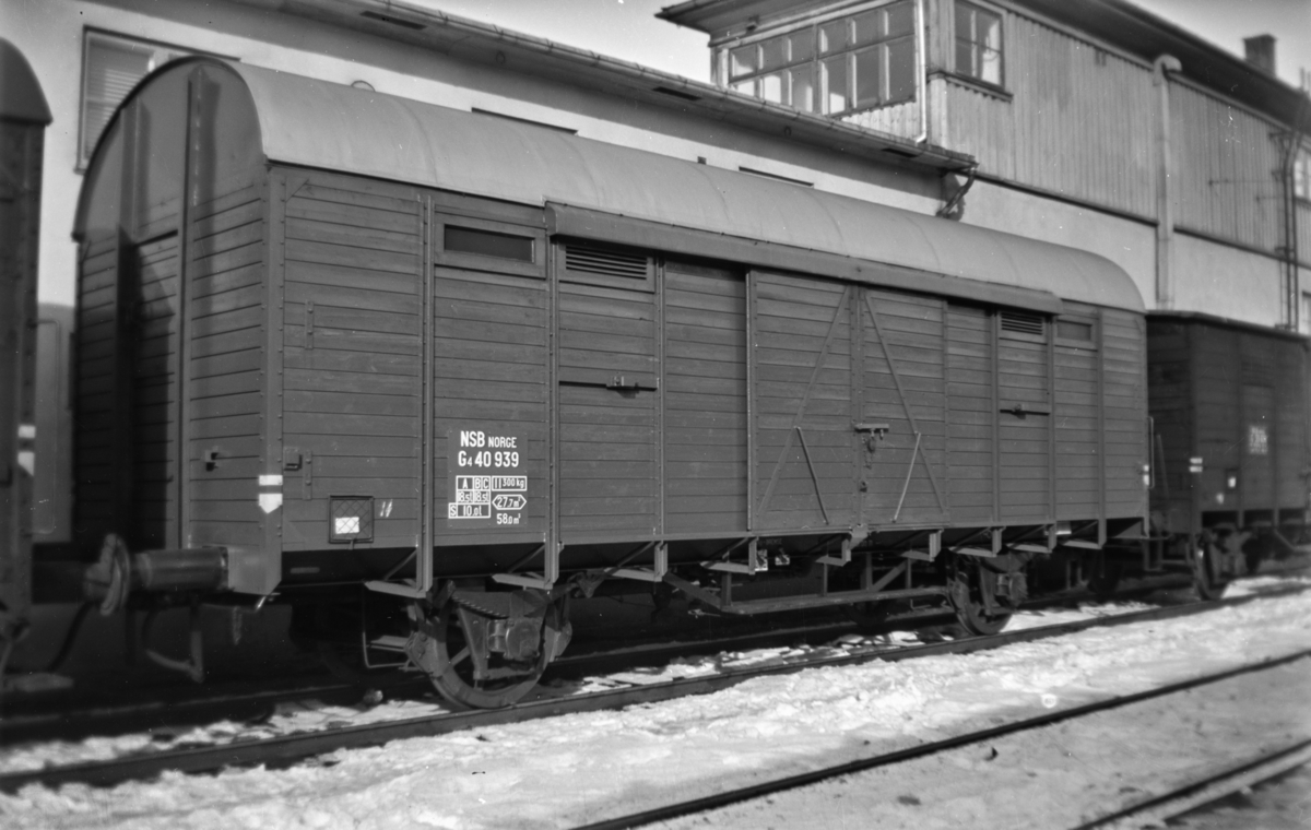 Normalsporet godsvogn type G4 nr. 40939.