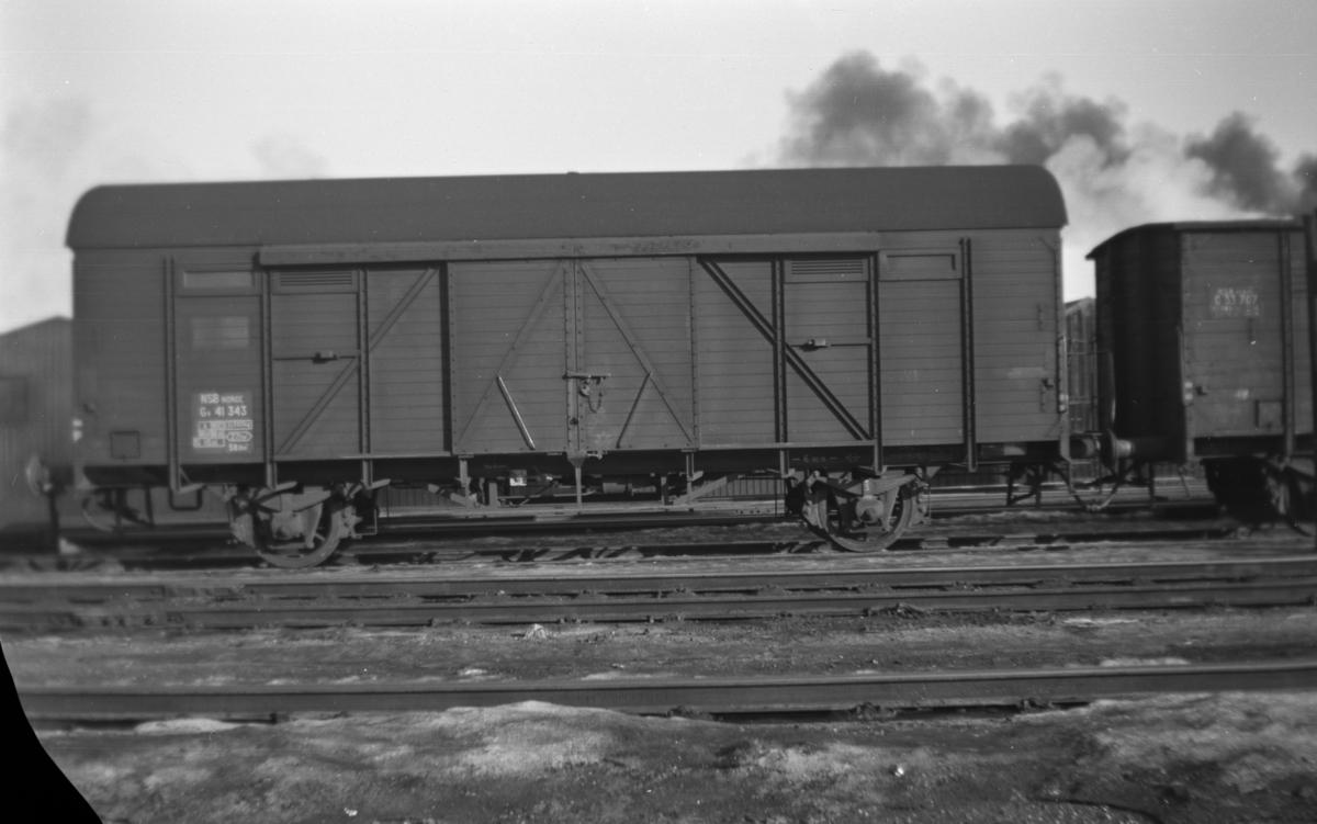 Normalsporet godsvogn type G4 nr. 41343.