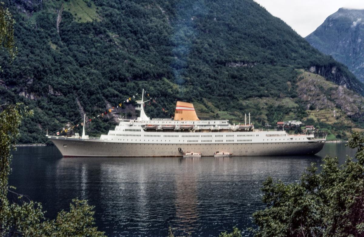 Cruiseskipet MS Vistafjord.