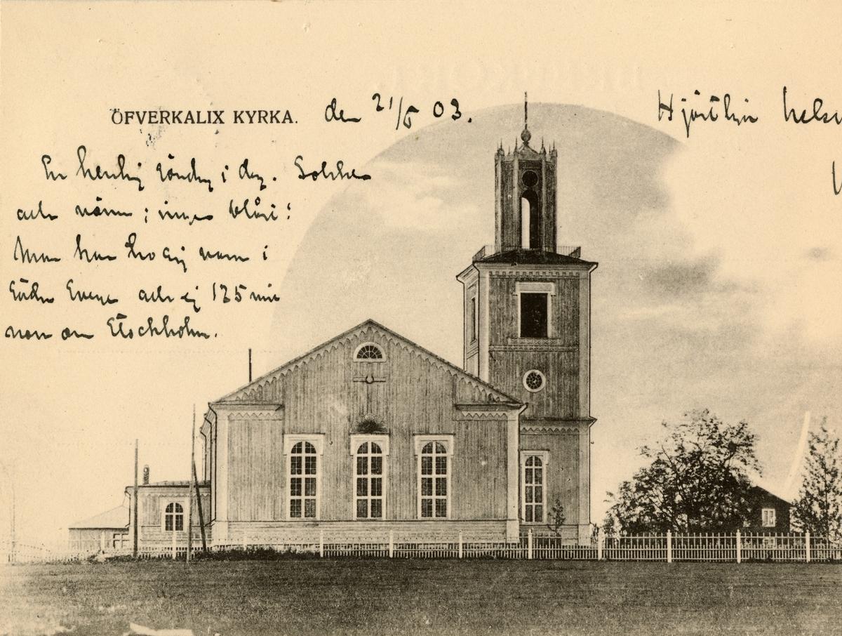 """Text i fotoalbum: """"Överkalix kyrka."""""""