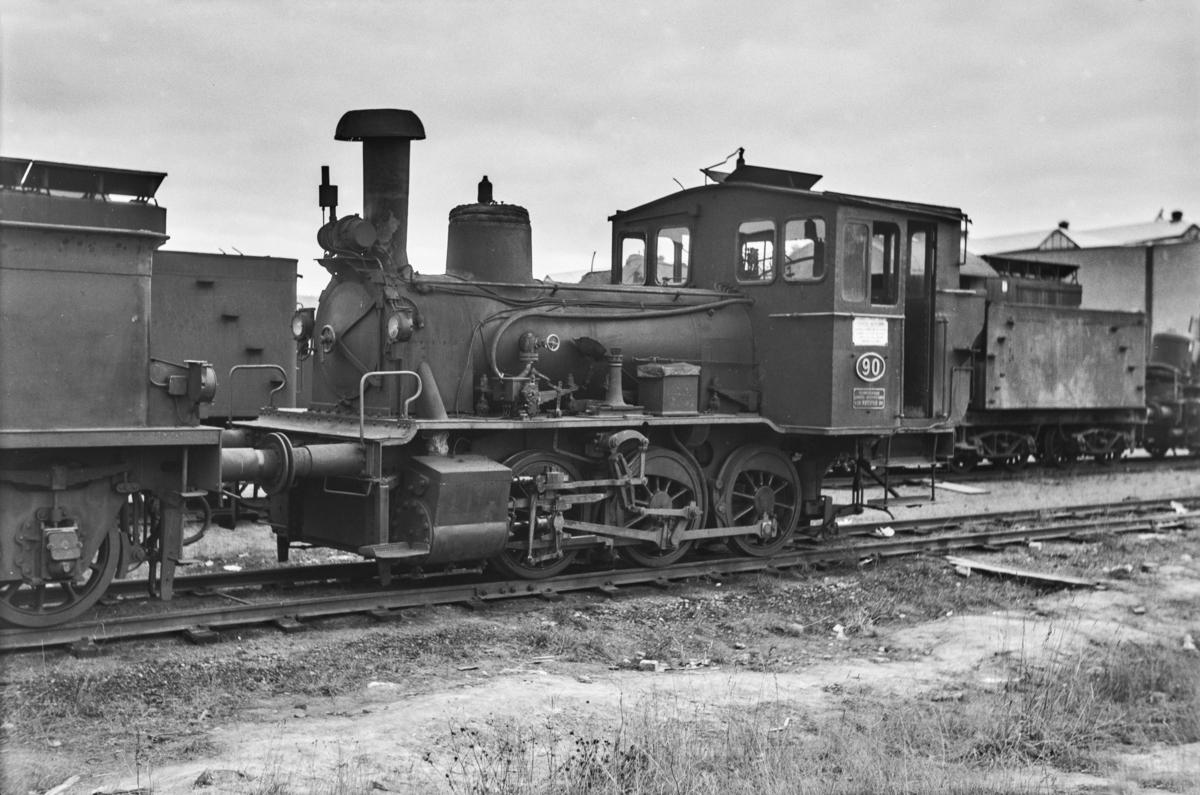 Hensatt damplokomotiv type 42a nr. 90 på Grorud verksted.