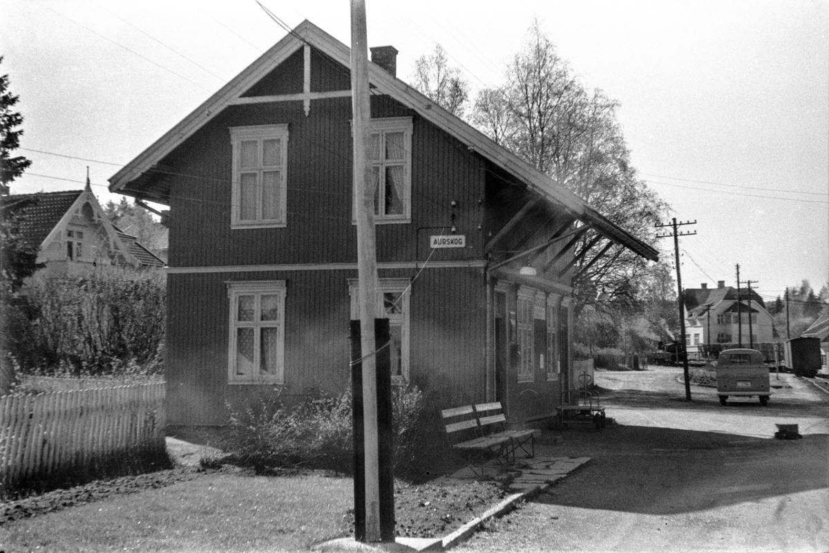 Aurskog stasjon på Aurskog-Hølandbanen.