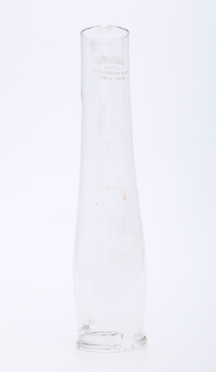 Lampeglass til en parafinlampe
