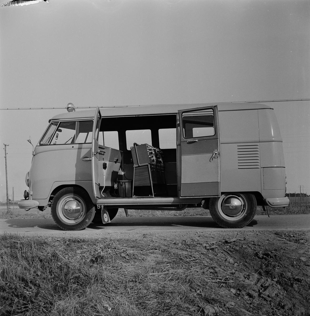 Landsmålsarkivets inspelningsbuss, Uppsala 1957