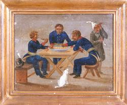 Grötätarna tre officerare [Oljemålning]