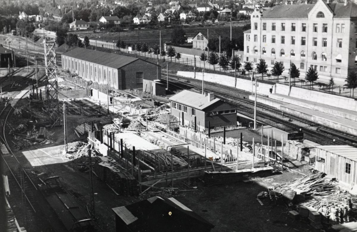 Byggevirksomhet på Majorstuen stasjon