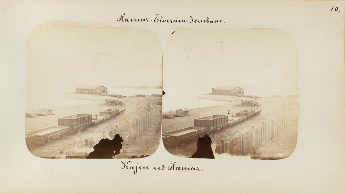 Kaisporet på Hamar stasjon. I bakgrunnen skimtes vognhallen