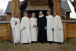 Konfirmasjon, Innset gamle kirke 1973.