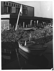 Båt og skanse klar hos Døhlen Foto på Lillestrøm. Vil skanse