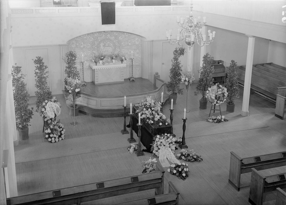 Begravning, Gamla Missionskyrkan, Uppsala 1941