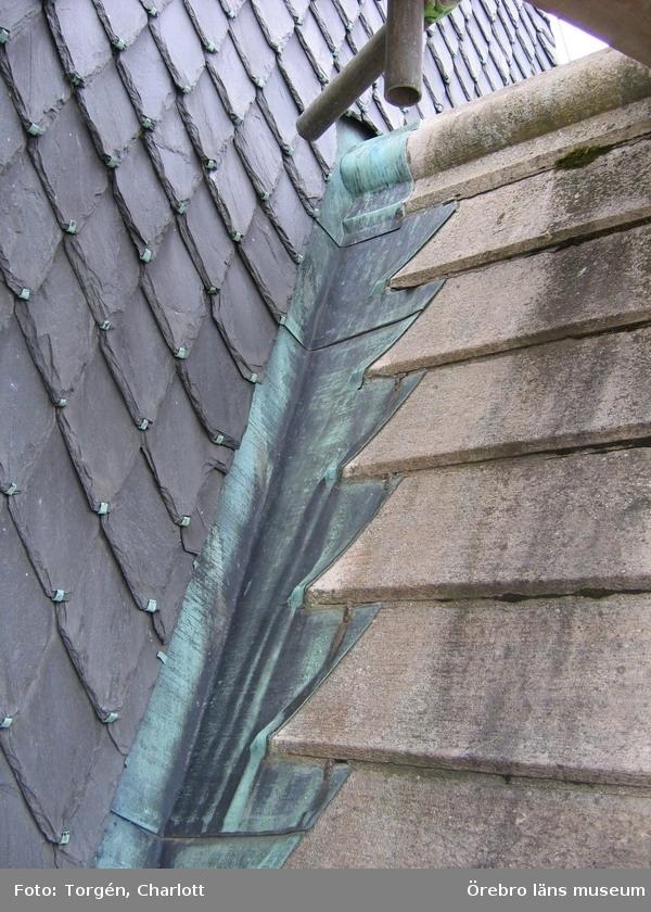 Renoveringsarbeten av tornfasader på Olaus Petri kyrka (Olaus Petri församling).Ränndal, östra tornet.Dnr: 2008.230.065