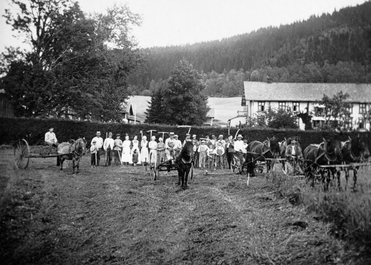 Slåttonn på storgarden Bjørneby i Åsnes i Solør, antakelig
