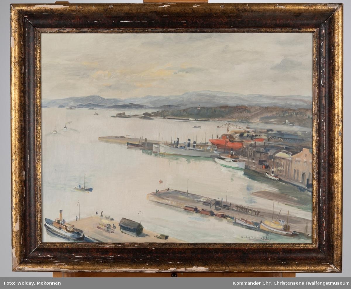 Prospekt av havneområde