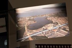 Stadshistoriska utställningen i arkivhuset. Fotografi ur Ski