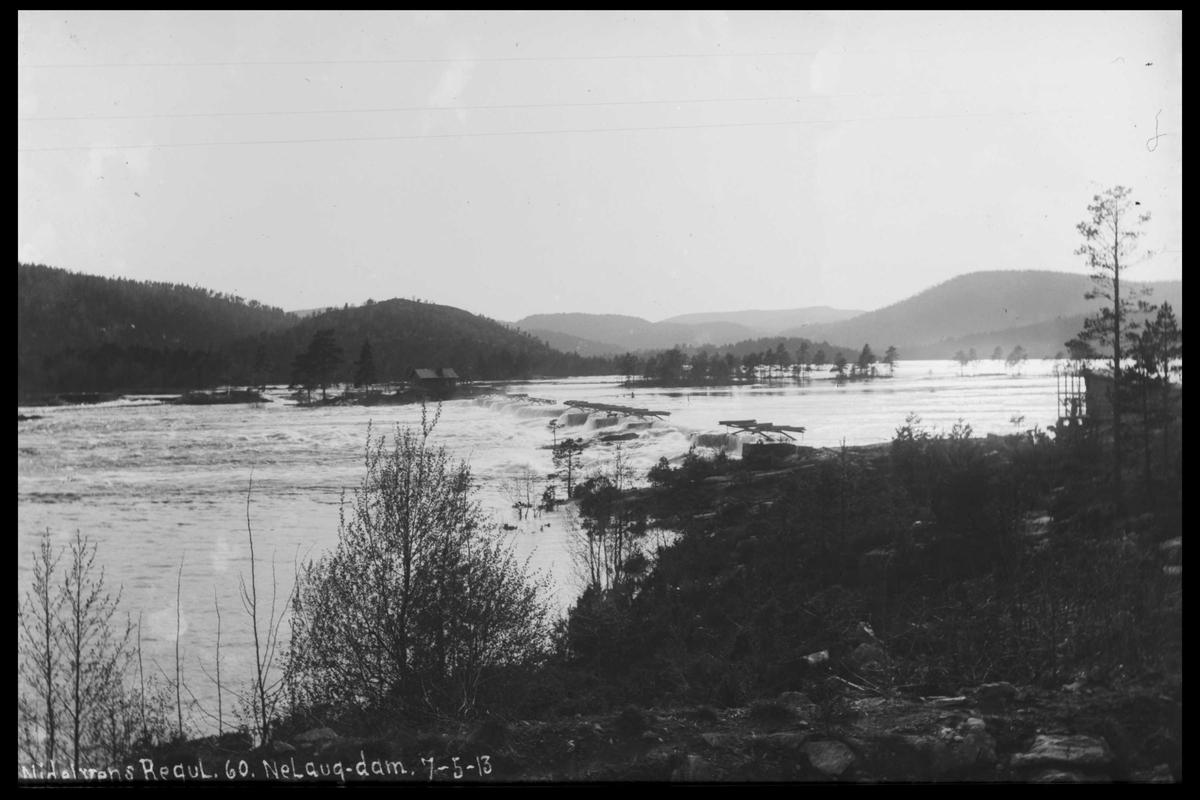 Arendal Fossekompani i begynnelsen av 1900-tallet CD merket 0474, Bilde: 65 Sted: Nelaug Beskrivelse: Damanlegget