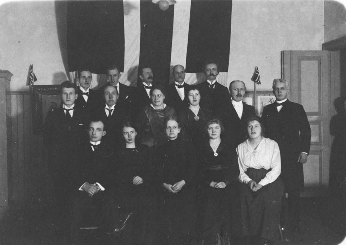 Bilde fra Ski og Kråkstad lærerlags 25-års jubileum i 1921