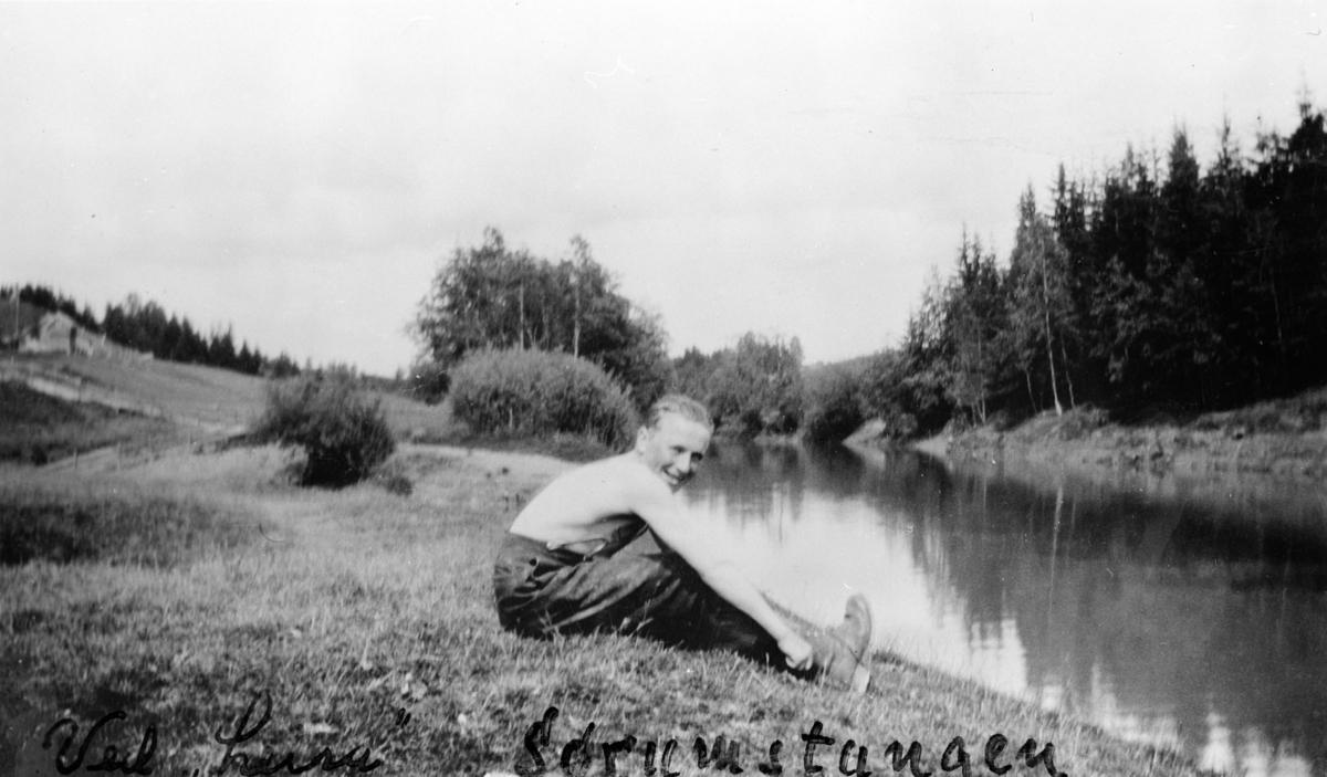 """Ved """"Leira"""", Sørumstangen."""