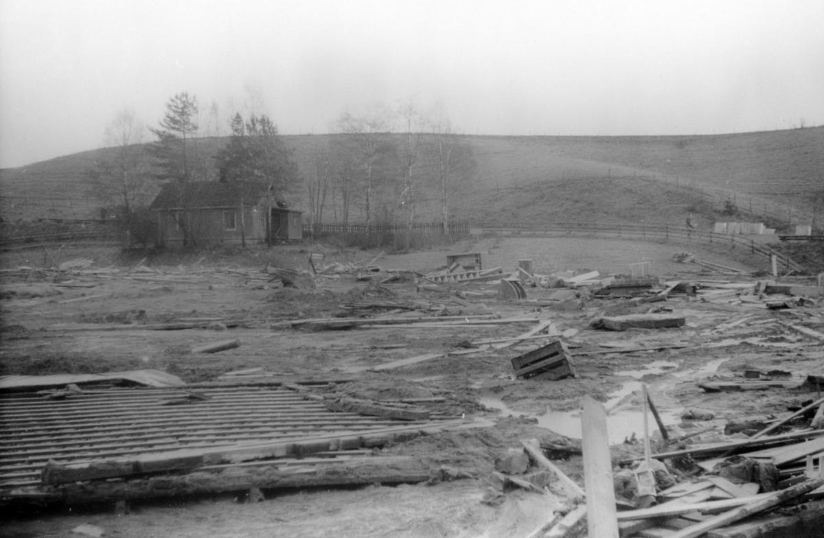Raset på Fagereng julaften 1953.