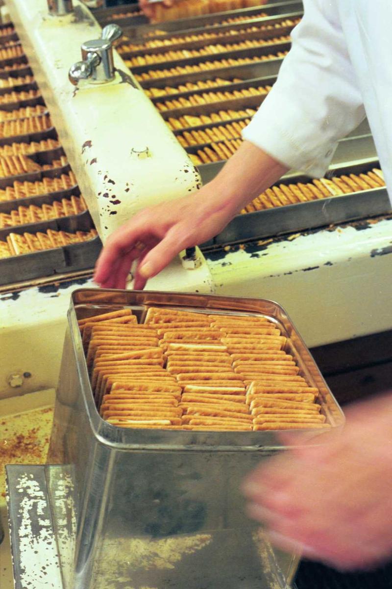 Cream Cracker, kjeks, maskin, emballasje, pakking i boks