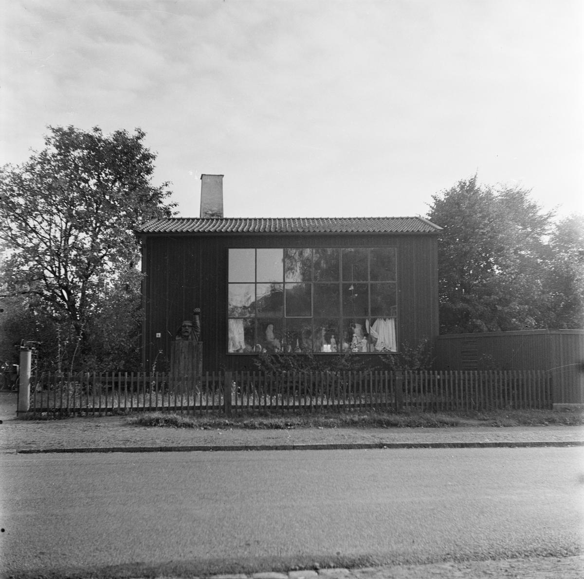 Konstnären Bror Hjorts bostad och ateljé, Norbyvägen 26, kvarteret Skjutbanan, Kåbo, Uppsala