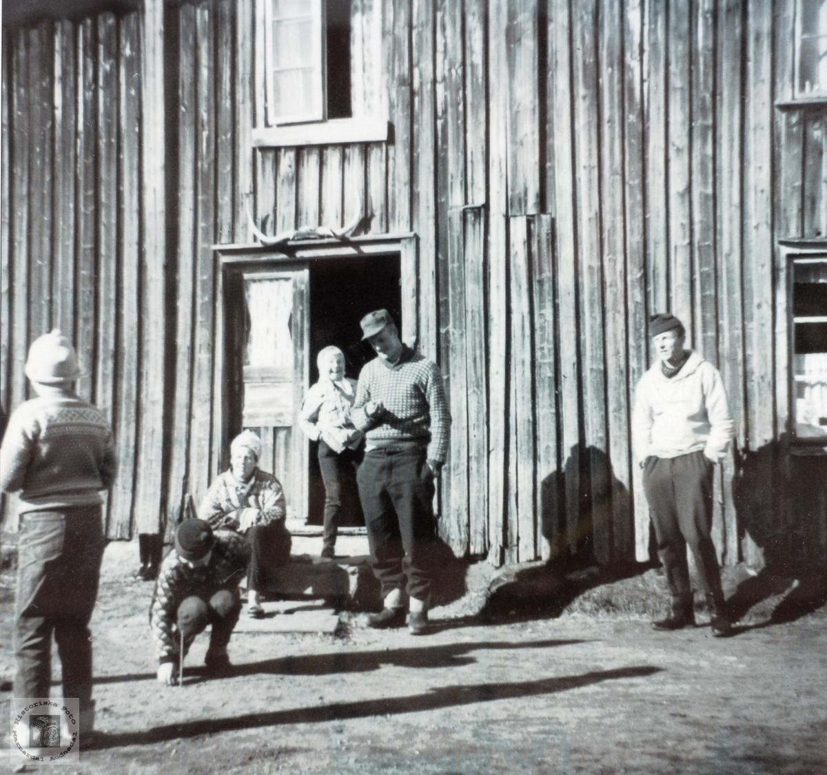 Kaste på stikka, Øvre Ågedal i Grindheim senere Audnedal.