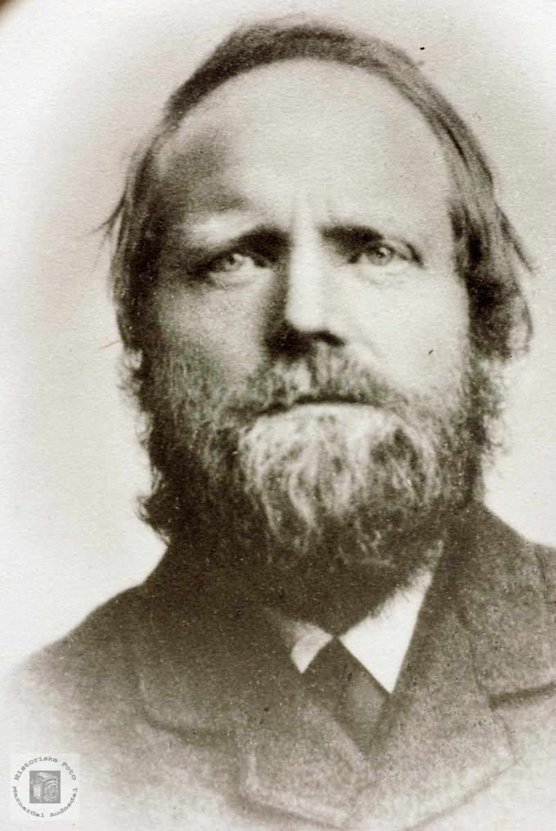 Portrett av Søren Seland. Grindheim Audnedal.