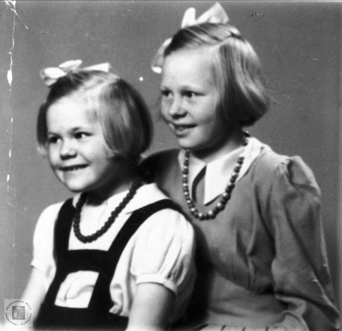 Portrett av to søstre, Arnhild og Turid Moland, Bjelland..