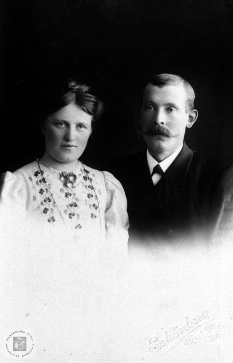 Portrett av ekteparet Martha og Syvert Egelandsaa.
