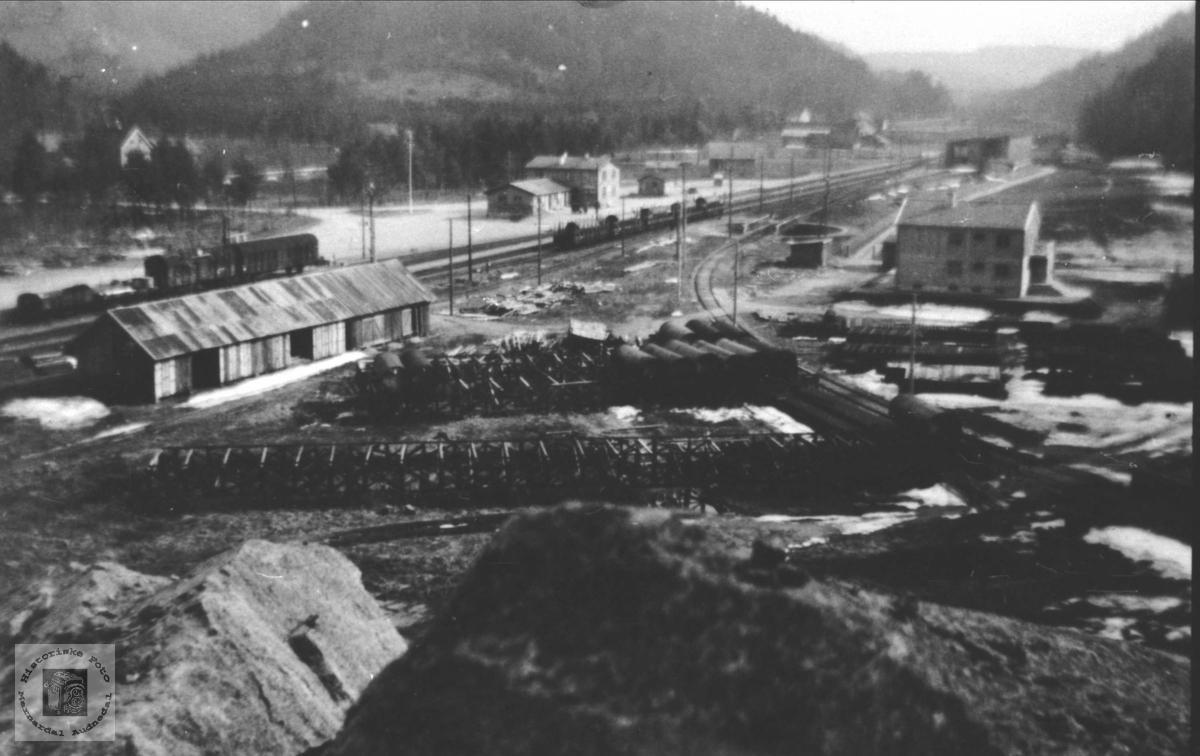 Marnardal Stasjon 1946, Øyslebø.