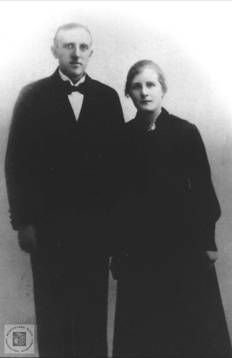 Ekteparet Olav og Magda Bore, Klepp.