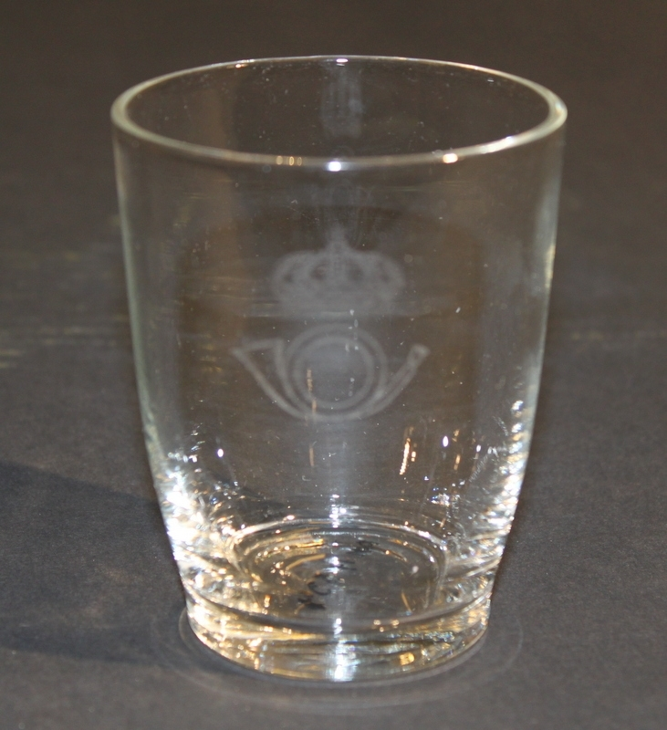 Dricksglas, 6 st med postverkets emblem.