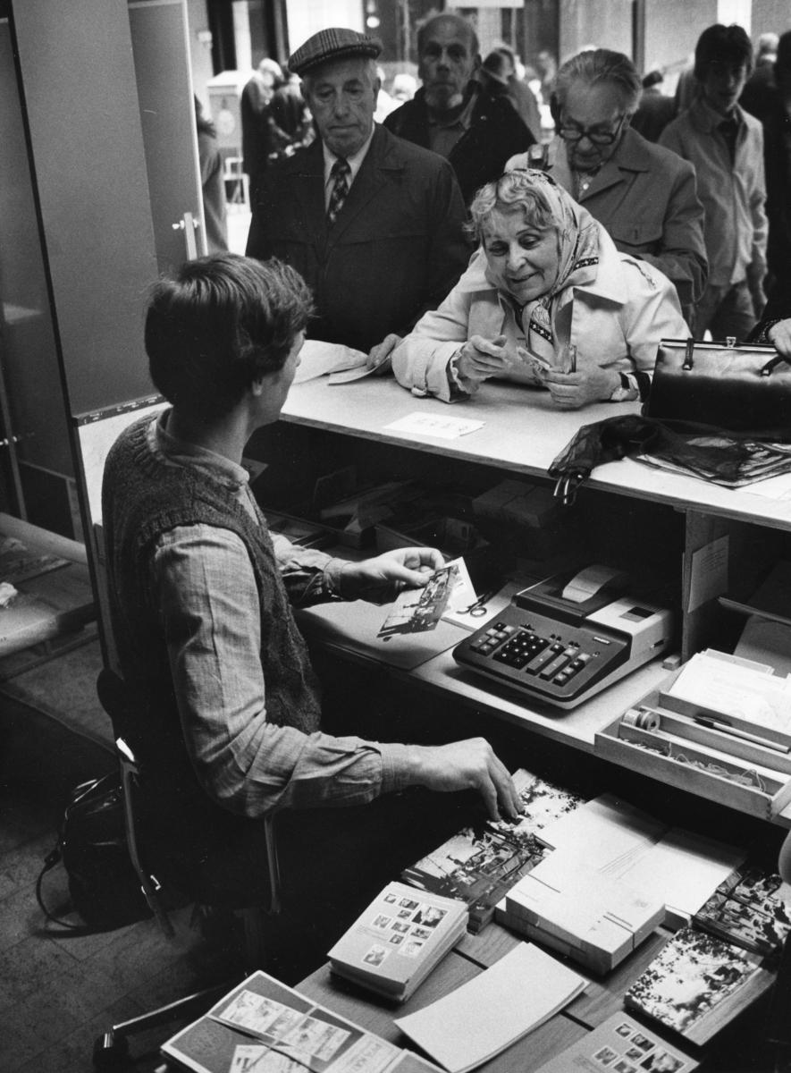 FRIMÄRKETS DAG DEN 9 OKTOBER 1982. Lokal: Försäkringsbolaget Trygg-Hansa, Flemminggatan 18, Stockholm.