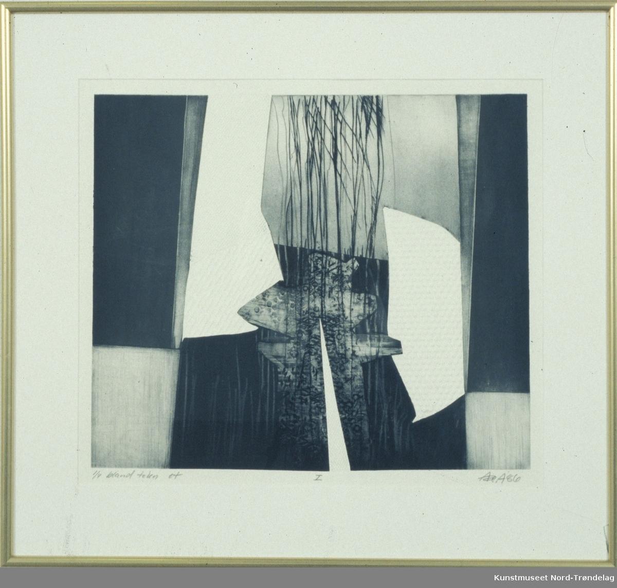 Hvitt grått og svart abstrakt.