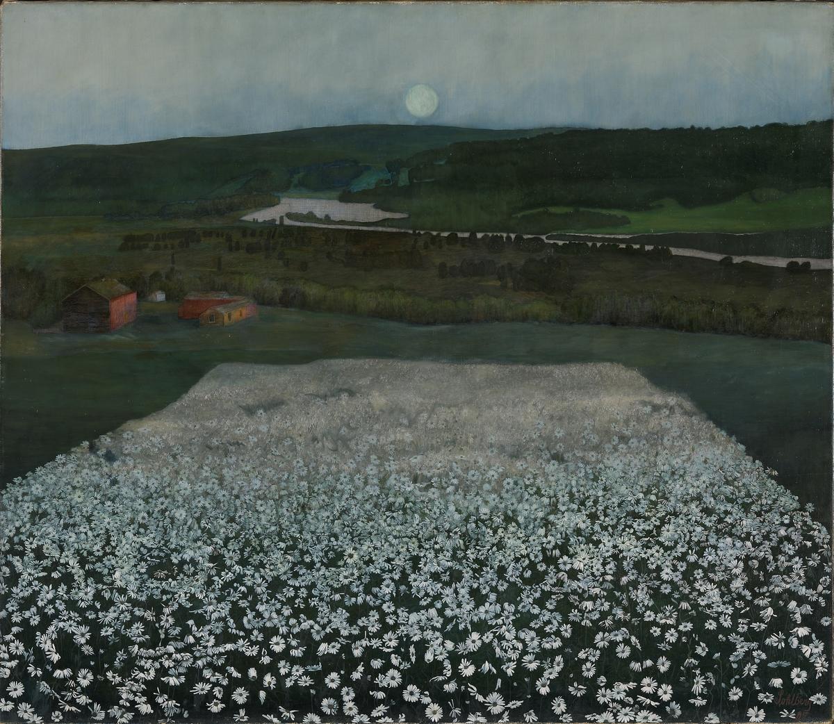 En blomstereng nordpå [Maleri]