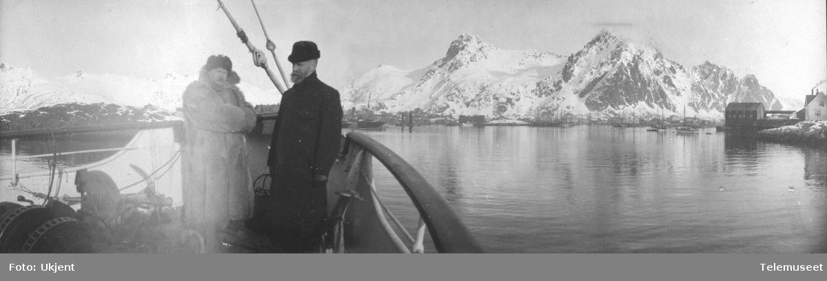 Telegrafdirektør Heftyes reise i Nord- Norge 1911. Ombord i D/S Salten, Svolvær 16.mars.