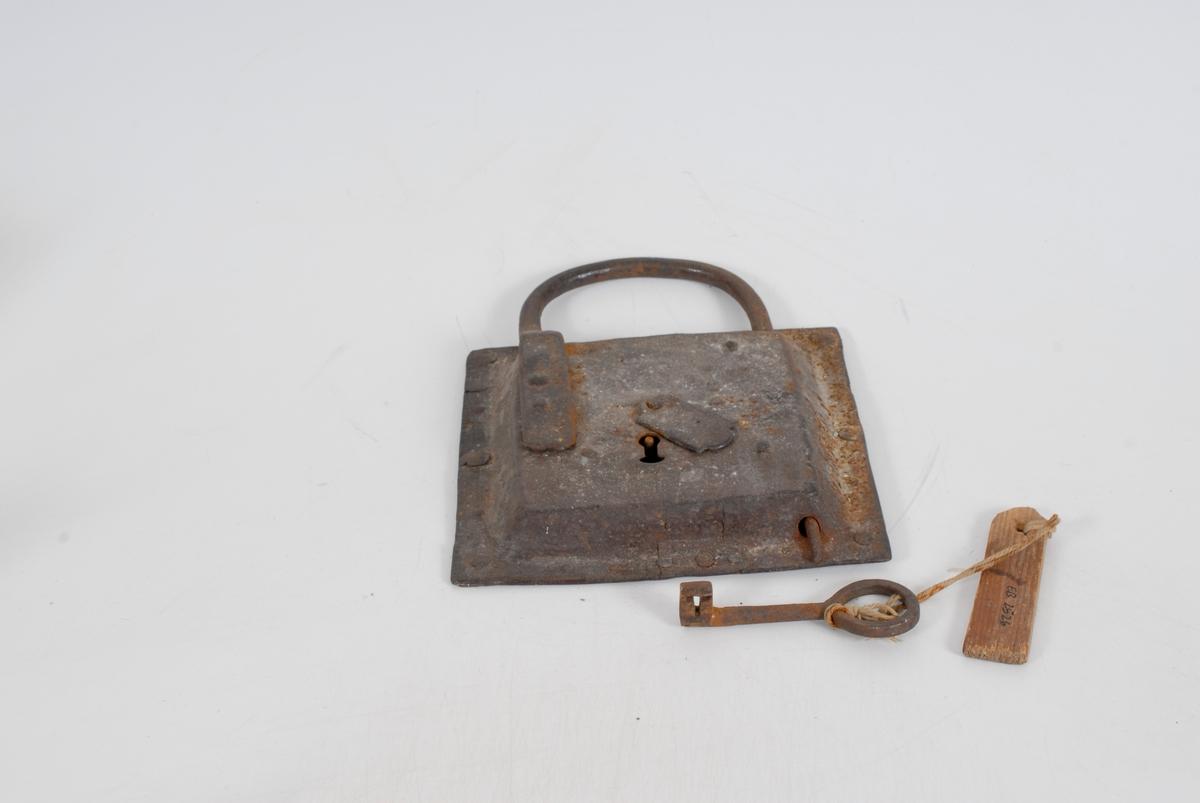 Hengelås m/nøkkel