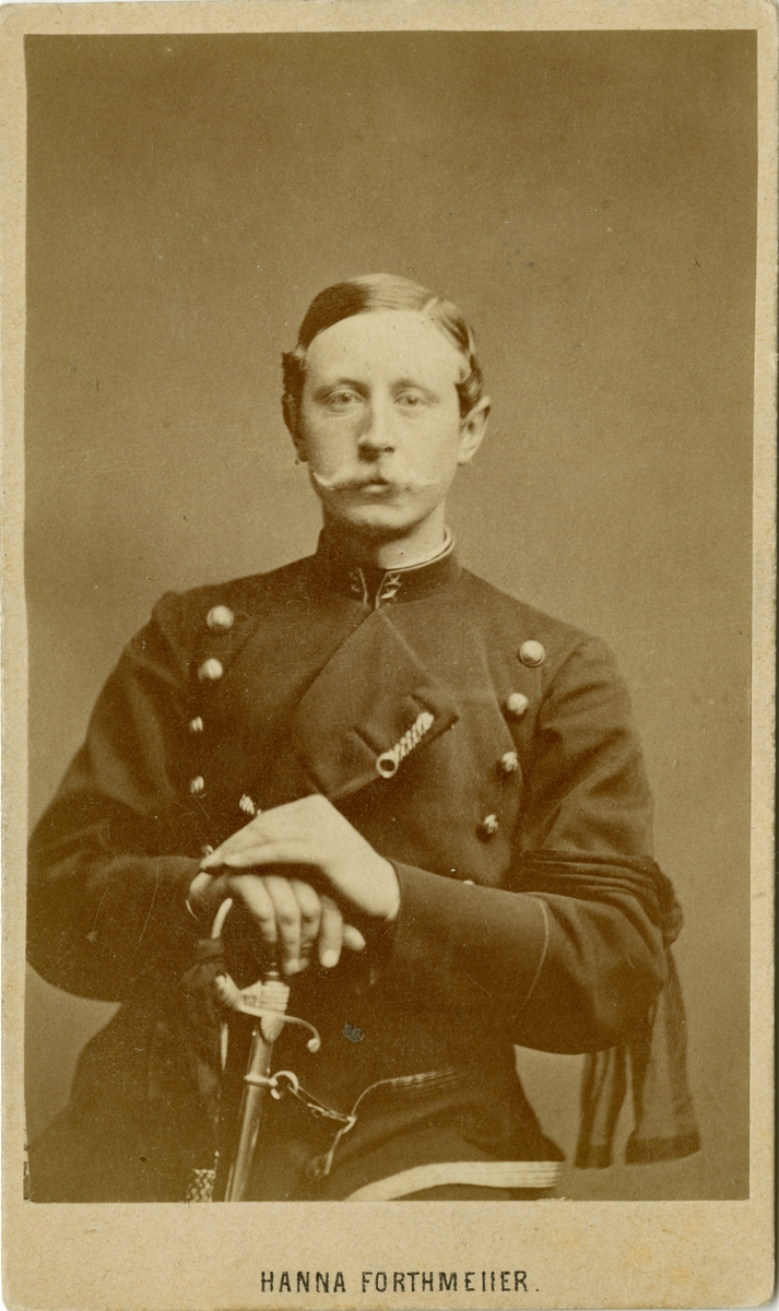 Porträtt av okänd löjtnant vid Norra skånska infanteriregementet I 6.
