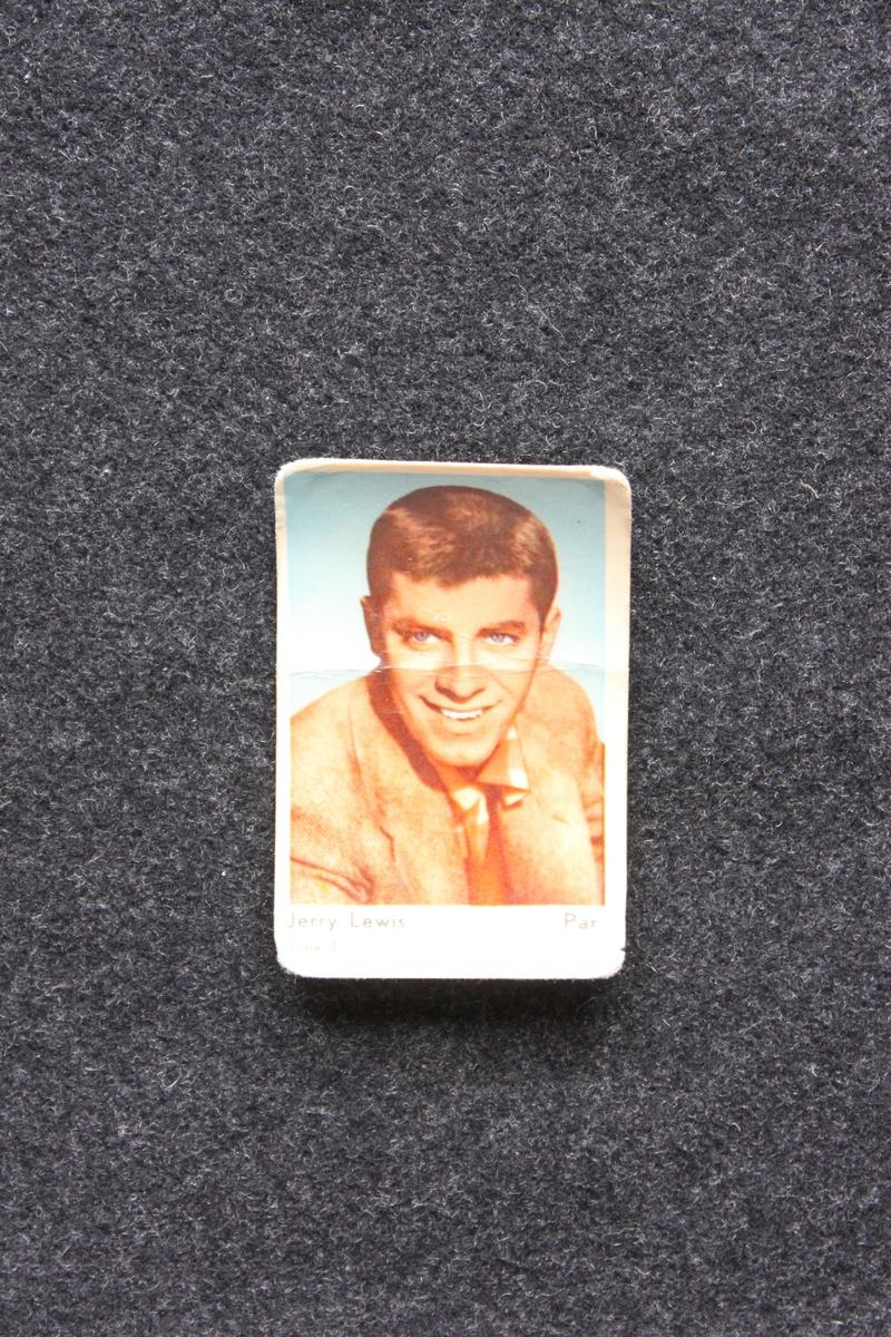 Filmstjärnebild  med foto föreställande Jerry Lewis