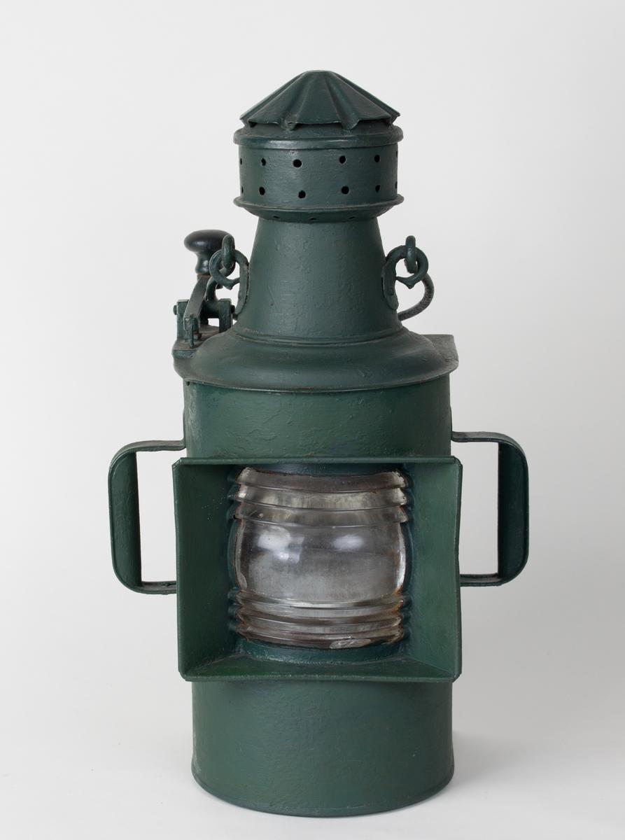 Morselanterne for parafin uten lampe med to håndtak.