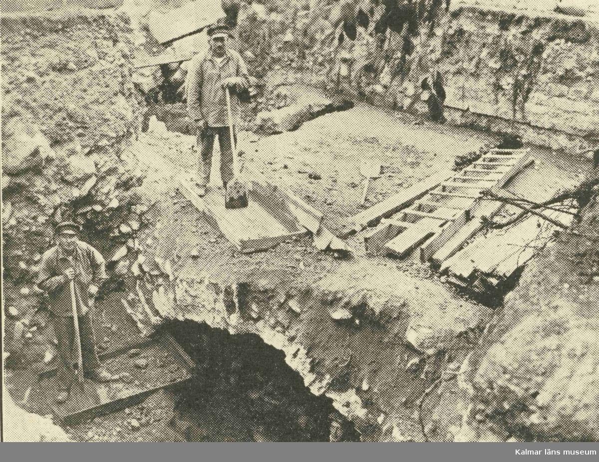 Arkeologisk undersökning i kvarteret Eken.