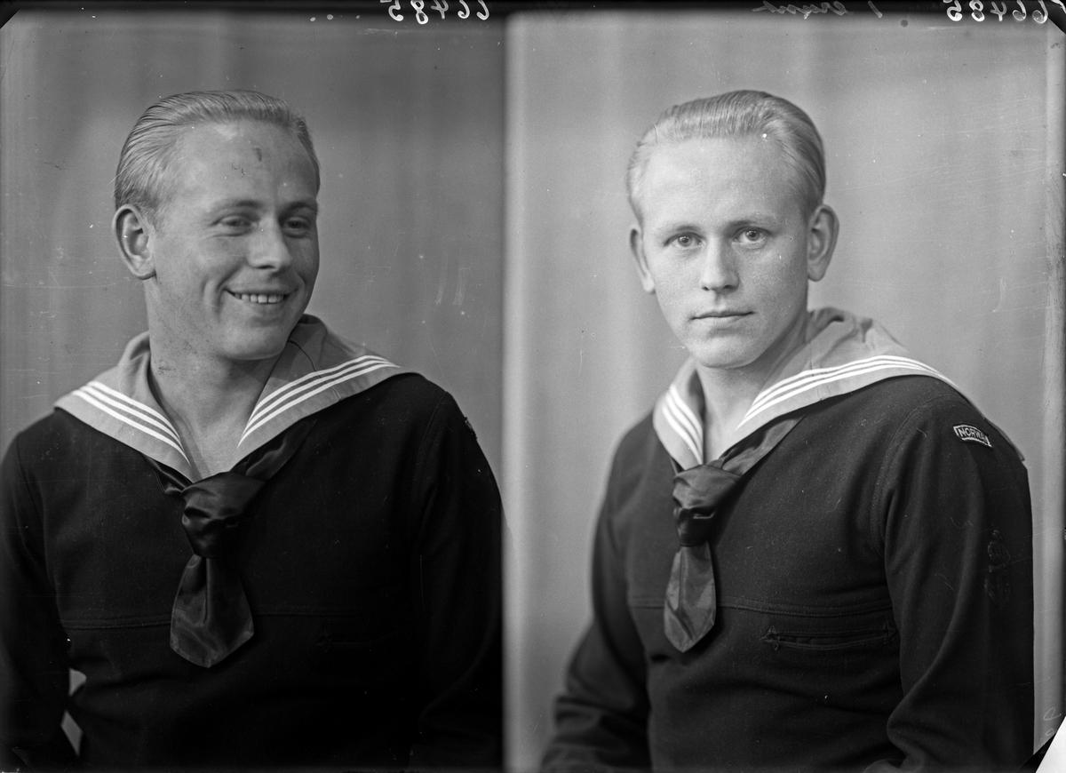 Portrett. Ung mann i uniform. Bestillt av Henry Hauge. Asalvikveien 20