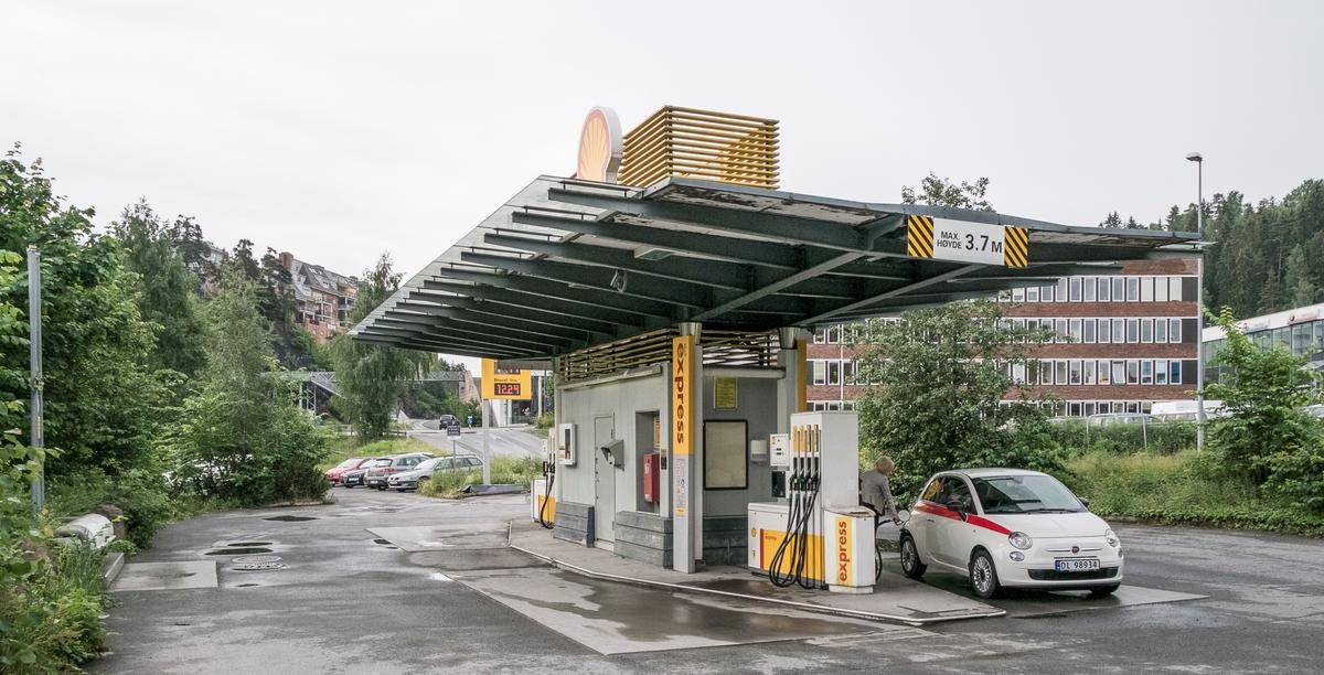 Shell express bensinstasjon Jongsåsveien Sandvika Bærum