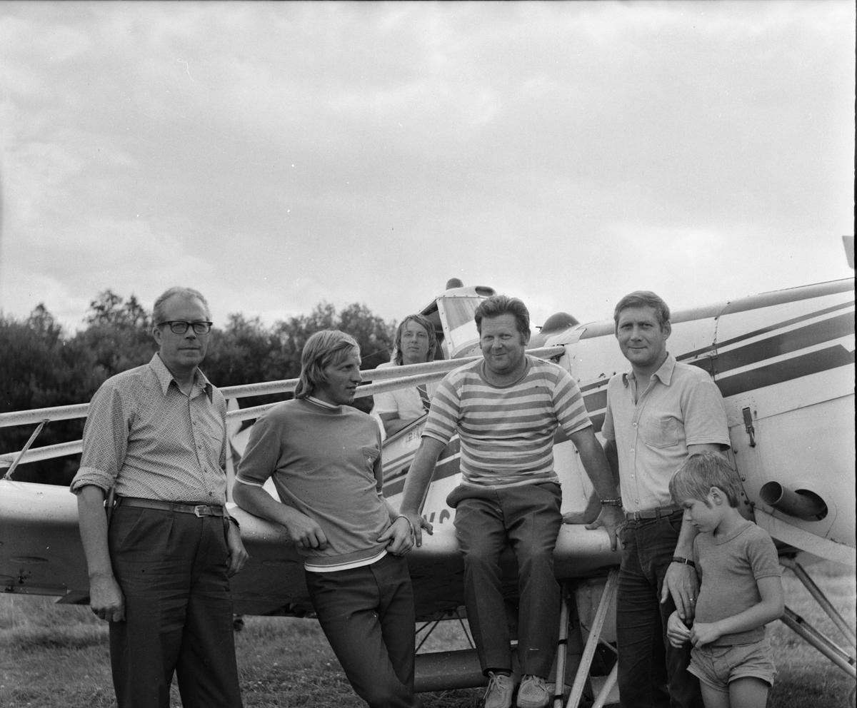 Vallsta, Skogsgödsling från flyg, Juli 1973
