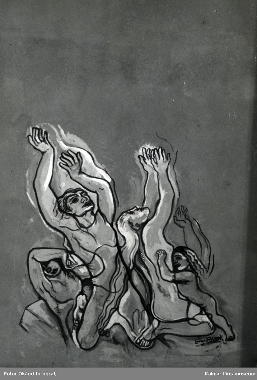 Väggmålning av Einar Forseth på Sagabiografen.