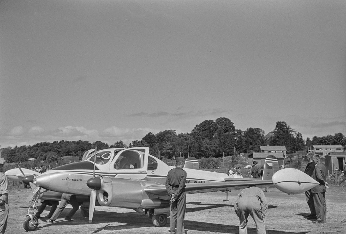 Flystevne på Lade flyplass. Morava