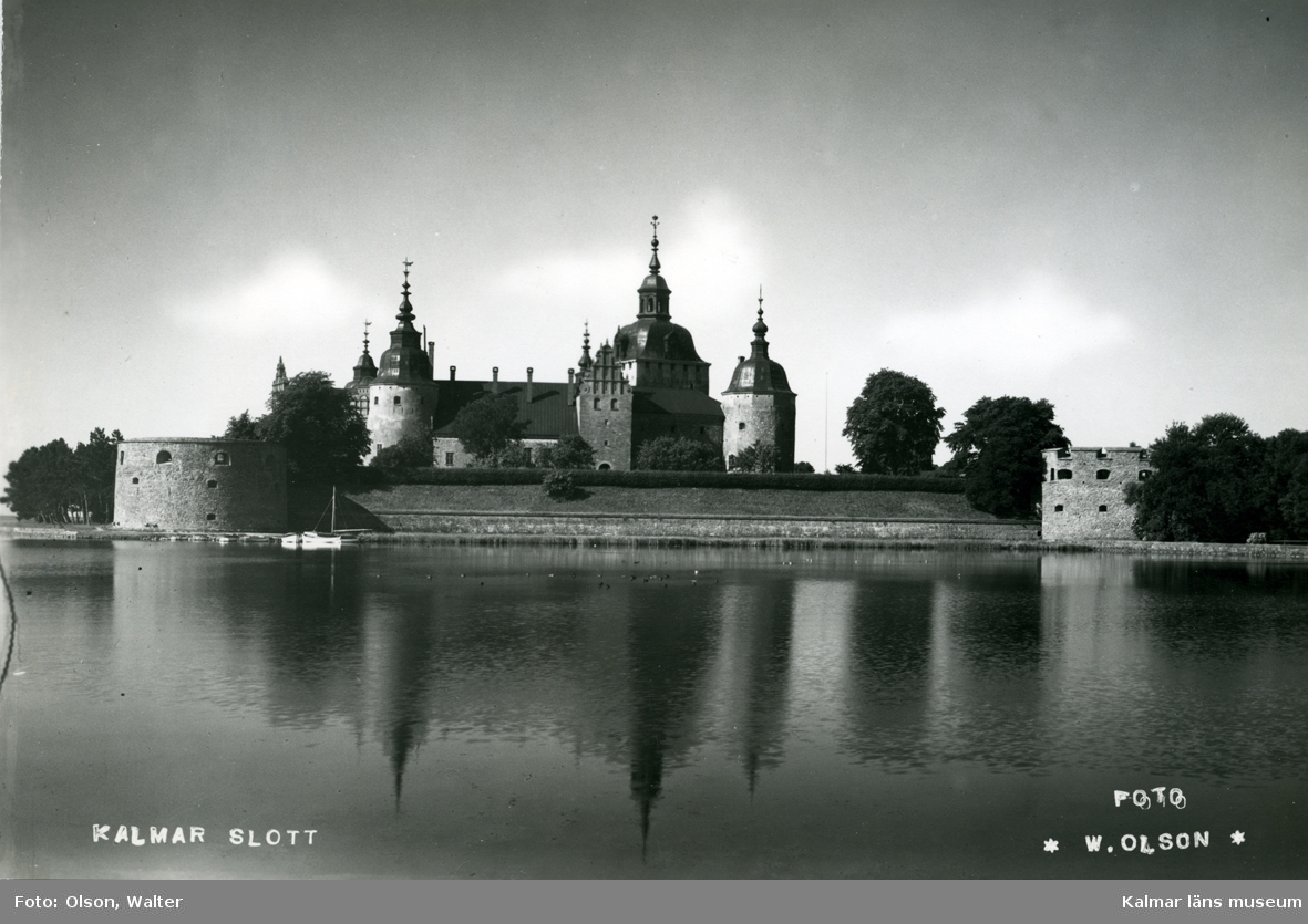 Vykort över Kalmar slott.