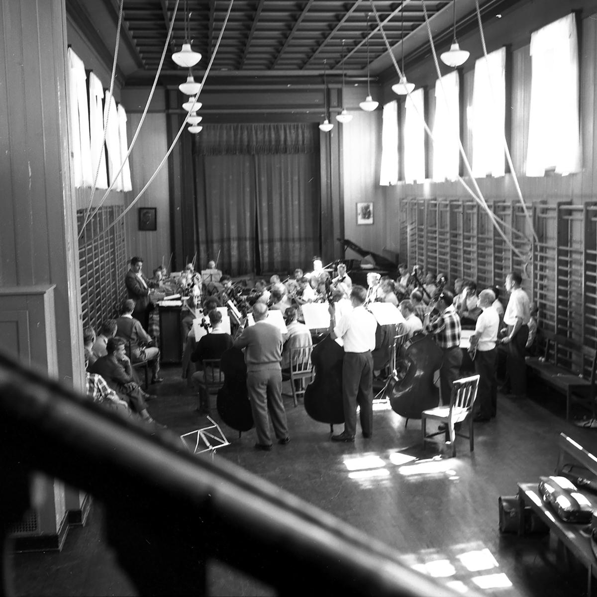 NASOL/Norske Symfoni-Orkestres Landsforbund-kurset i Elverum sommeren 1958